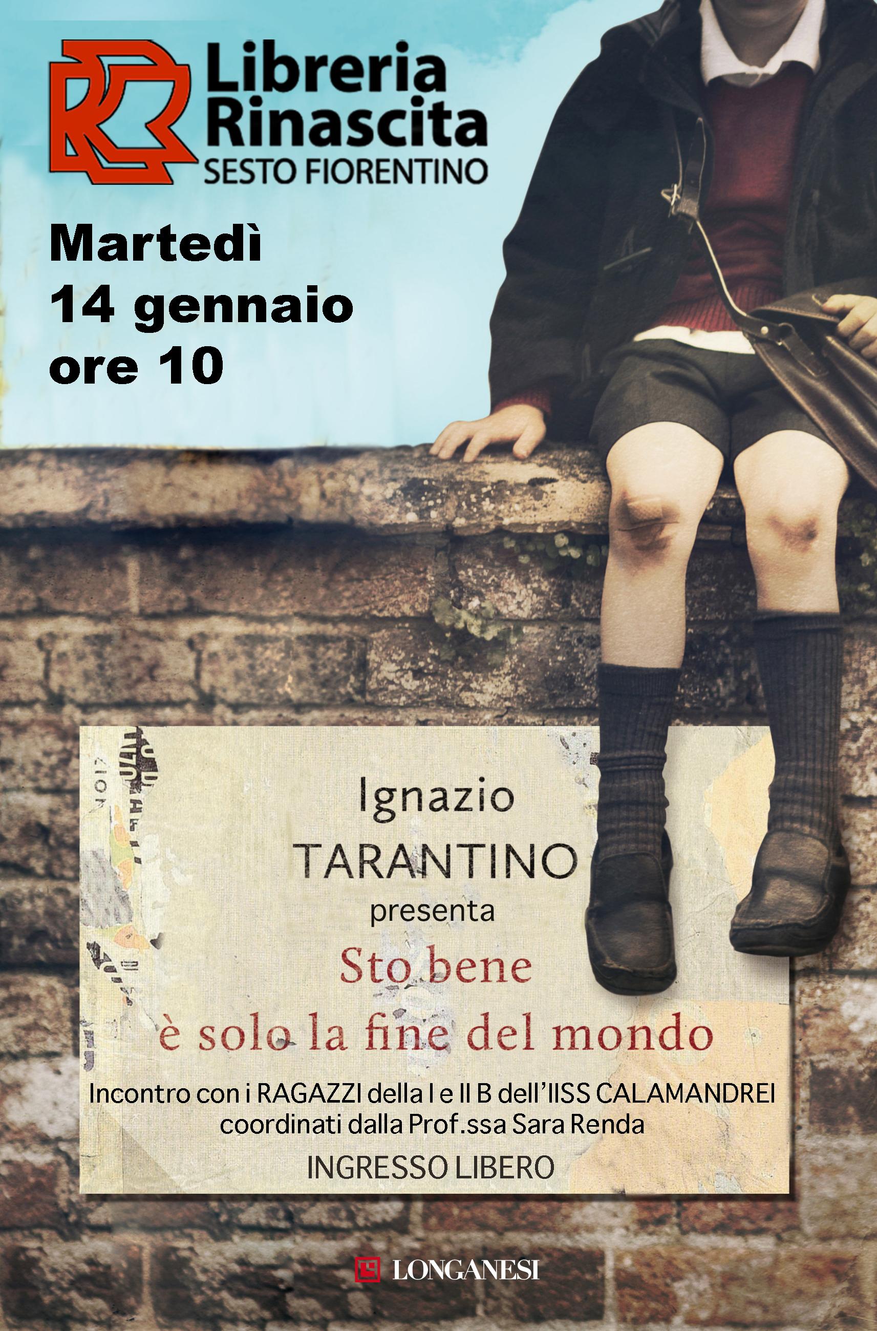"""Ignazio Taratino presenta """"Sto bene, è solo la fine del mondo"""" Libreria Rinascita Sesto Fiorentino"""